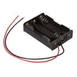 _ Batteriehalter mit Anschlusskabel 3x AAA / 3x Micro, Batteriefach - Bild vergrößern