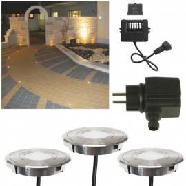 Seliger hochwertiges 3er Set Bodeneinbauleuchte MINISPOT 800 LED warmweiß Ø47mm 230 V Lichtpunkt - Bild vergrößern