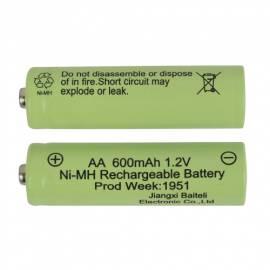 2er Pack AA NI-MH 1,2V 600mAh Ersatz-Akku für Solarartikel Solar-Leuchten Lichterketten & Co - Bild vergrößern