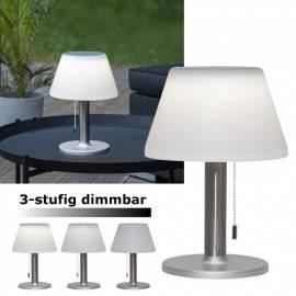 Solar LED Tischleuchte -SOLIA- 10-200lm dimmbar Tischlampe für Balkon Terrasse - Bild vergrößern