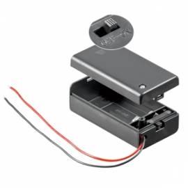 _Batteriehalter 9 V Block-Batterie EIN-AUS Schalter, 9 Volt Batteriefach - Bild vergrößern