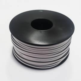 50m Zwillingslitze WEIß/WEIß mit schwarzer Markierung 2x 0,14mm² Litze - Bild vergrößern