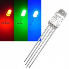 5mm Led RGB Rot Grün Blau steuerbar 4-Pin Leds 3Chip - Bild vergrößern
