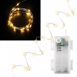 Led Draht Lichterkette WT66736 20 SMDs warmweiß TIMER batteriebetrieben - Bild vergrößern