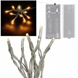 Mini LED Lichterkette warmweiß 10 LEDs batteriebetrieb - Bild vergrößern