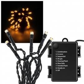 outdoor Led Lichterkette 2,4m 24 Leds warmweiß 8 Lichteffekte batteriebetrieb - Bild vergrößern
