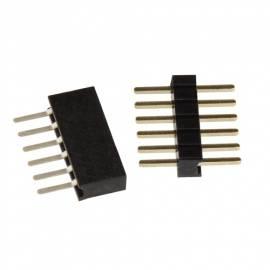 10 miniatur Steckverbinder 6-polig RM 1,27mm / Stecker Set - Bild vergrößern