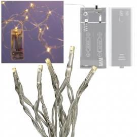 Mini LED Lichterkette amber 10 LEDs batteriebetrieb - Bild vergrößern
