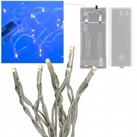 Mini LED Lichterkette blau 10 LEDs batteriebetrieb - Bild vergrößern