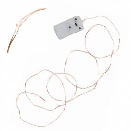 MICRO Led Lichterkette STRING Tropfen Draht kupfer-farben 12 SMDs batteriebetrieben - Bild vergrößern