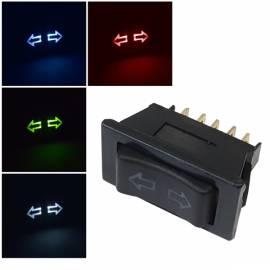 KFZ Fensterheber-Schalter 12V 10A Led beleuchtet Taster 5-Pin Universal - Bild vergrößern