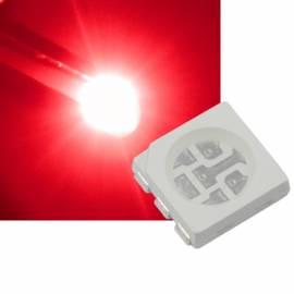 SMD Led 5050 PLCC6 rot 624~627nm 2,0-2,2V 60mA 3-Chip - Bild vergrößern