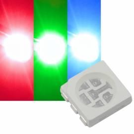 SMD Leds 5050 PLCC6 RGB / rot-grün-blau STEUERBAR multicolor fullcolor - Bild vergrößern