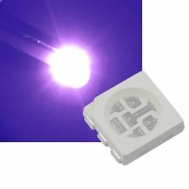 SMD Led 5050 PLCC6 UV ultraviolett 395~405nm 3,3-3,5V 60mA 3-Chip schwarzlicht - Bild vergrößern