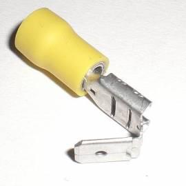 100 Flachsteckhülsen mit Abzweig 6,3x0,8mm GELB für Kabel 4,0-6,0mm² Kabelschuhe - Bild vergrößern