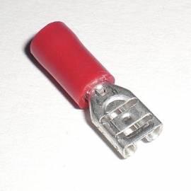 100 Flachsteckhülsen 4,8x0,8mm ROT für Kabel 0,5-1,5mm² Kabelschuhe - Bild vergrößern