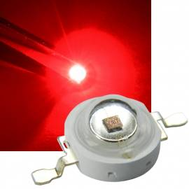 1 Watt HighPower Led -hp1w-r- rot 625 ~ 630nm 30~40lm 2,1-2,3V 350mA - Bild vergrößern