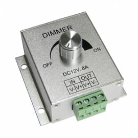 Led Dimmer PWM 12V 8A / stufenlos dimmen von 12 Volt Leds Smd Strips Leisten &Co - Bild vergrößern