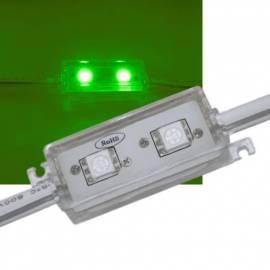 SMD LED Modul GRÜN, 2-fach 5050 SMD, 12V IP65 waterproof - Bild vergrößern