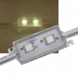 20 Stück SMD LED Modul WARMWEIß, 2-fach 5050 SMD, 12V IP65 waterproof - Bild vergrößern