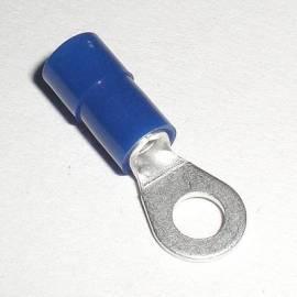 20 RingKabelschuhe BLAU M-4 für 1,5-2,5mm² Kabel - Bild vergrößern