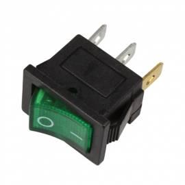 Wippschalter -WS-250V-G- GRÜN beleuchtet EIN/AUS 250/125V AC 6/10A 21x15mm - Bild vergrößern