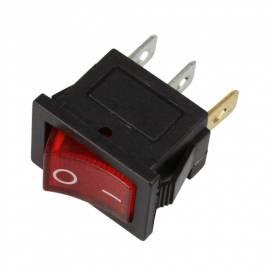 Wippschalter -WS-250V-R- ROT beleuchtet EIN/AUS 250/125V AC 6/10A 21x15mm - Bild vergrößern