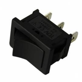 Wippschalter EIN/AUS oder UM 125/250V 6/3 A 21x15mm - Bild vergrößern
