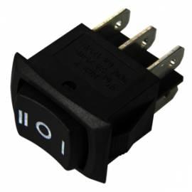 Wippschalter 2x EIN/AUS/EIN 250/125V AC 3/6A 21x15mm - Bild vergrößern