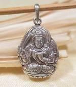 Anhänger Buddha Manjushri - 925er Sterling Silber - Nepal