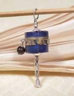 Anhänger Gebetsmühle - Tibet Mantra - Sterling Silber- Lapislazuli - NEPAL