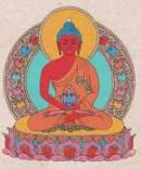 Faltkarte mit Umschlag - Amitabha Buddha - Handgeschöpftes Lokta Papier - Nepal