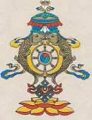 Faltkarte mit Umschlag - Tashi Taghai - Handgeschöpftes Lokta Papier - Nepal