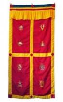 Tibet Türbehang - 8 Glückssymbole - Vorhang - Maroon - Nepal
