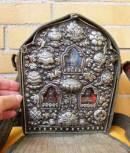 TIBET GHAU - XXL - tragbarer Schrein - Chenrezig - Guru Rinpoche - Glückssymbole