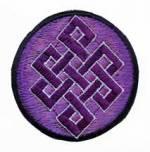 Gestickter Aufnäher - Patch - Endloser Knoten - violett - Nepal