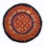 Gestickter Aufnäher - Patch - Endloser Knoten im Lotuskranz - Nepal