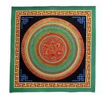 Thangka Mandala - OM-AH-HUNG - Mäander - handgemalt - Nepal