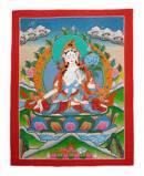 Thangka Weisse Tara - Dolma - Nepal