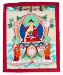 Thangka Buddha Shakyamuni auf Schneelöwenthron - Nepal #1