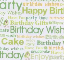 Artoz - Motive/Designkarton-beidseitig bedruckt- 66-Happy Birthday-ca.190g/m² - Bild vergrößern