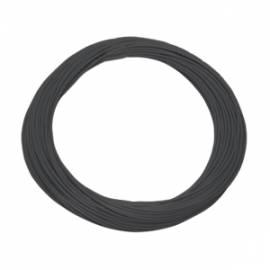 10 Meter flexible Litze / Kabel SCHWARZ 0,09mm²