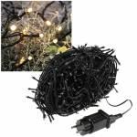 30m LED Lichterkette CT-ALK800sw 800 Leds WARMWEIß schwarzes Kabel für Außen & Innen