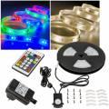 5m OUTDOOR RGB-Warmweiß DIGITAL Led Stripe IP44 Komplett-SET 230V Außen-Bereich RGB-WW 38038