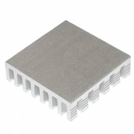 LED Kühlkörper silber 28x28x8mm für HighPower LEDs - Bild vergrößern