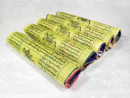 5 Rollen - Traditionelle Tibetische Gebetsfahnen - 5x25 - Windpferd - Nepal
