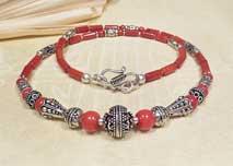 Korallen Halskette - Collier - Karma Arts - Nepal #1