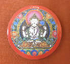 MAGNET PLATTE - Buddha Chenrezig - NEPAL - TIBET