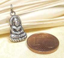 Sweet - kleiner Buddha Anhänger - 925 Sterling Silber - Talisman - Nepal