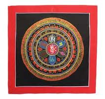 Thangka Mandala - Om Mani Padme Hum - Original aus Nepal
